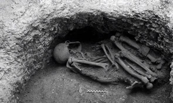 Skeleton discovered in Danebury.