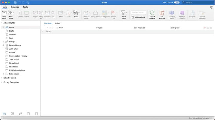 The new Microsoft Outlook for Mac 2021.