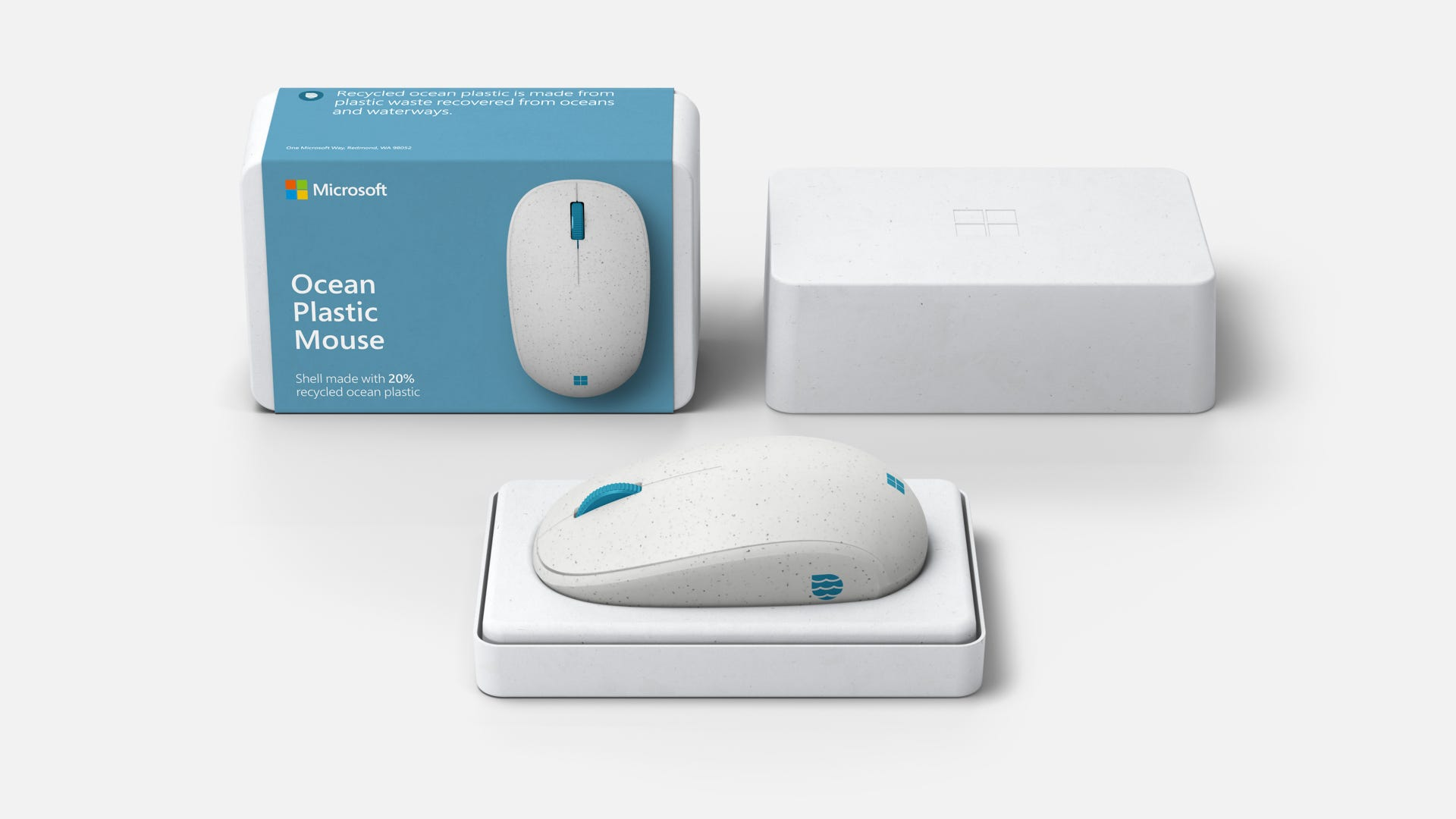 Microsoft Ocean Plastic Mouse from recycled plastic