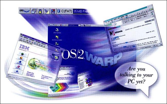 IBM OS/2 Warp 4 Box Illustration