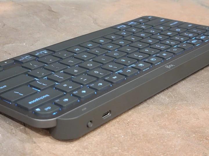 Logitech MX Keys Mini charges via USB-C.