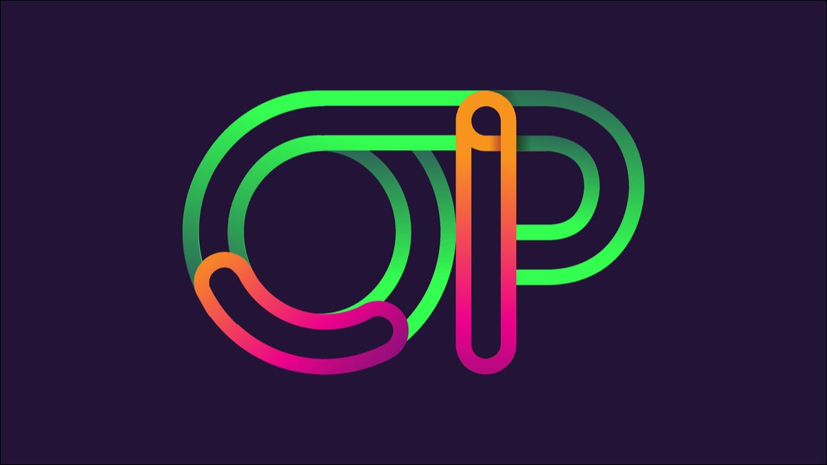 OP in green, orange, and hot pink neon