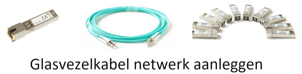 Glasvezelkabel netwerk aanleggen