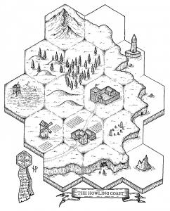 The Howling Coast Hexmap
