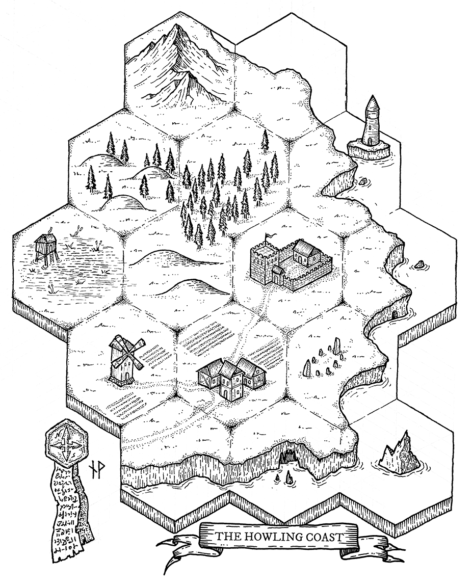The Howling Coast Hexmap