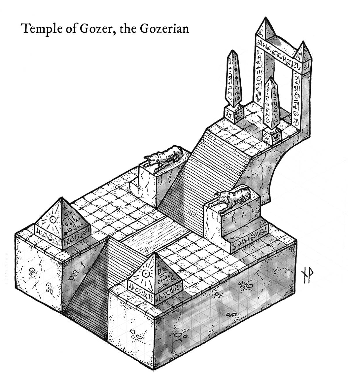 The temple of Gozer, the Gozerian