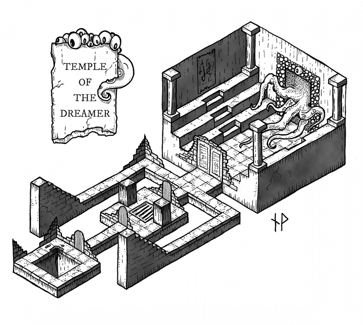 Isometric map: The Temple of the Dreamer