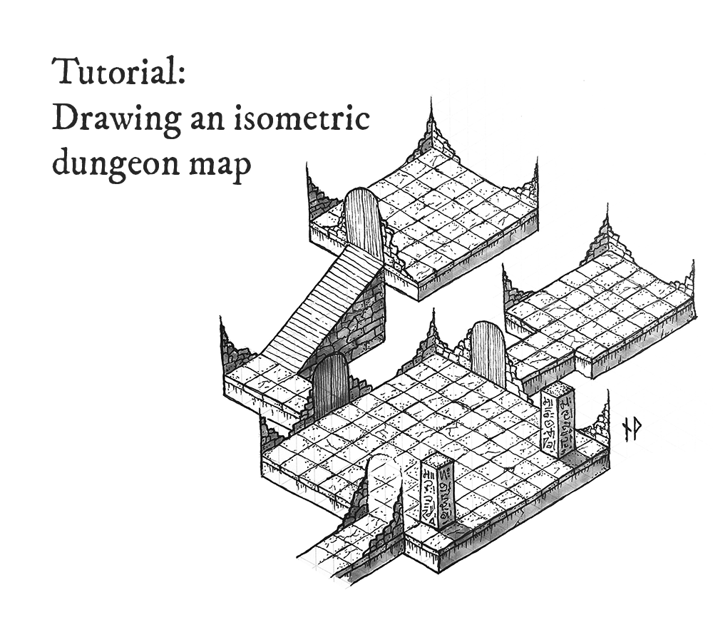 Tutorial: how to draw an isometric dungeon map