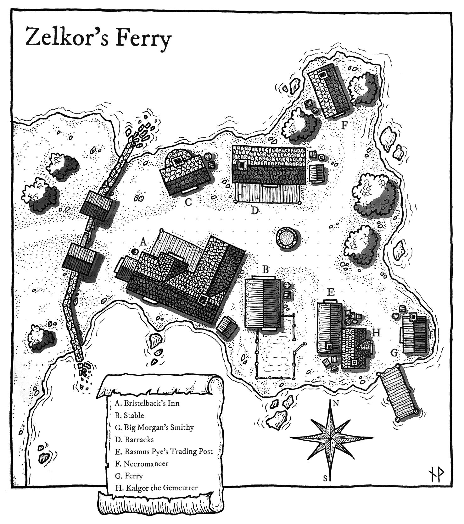 Map of Zelkor's Ferry