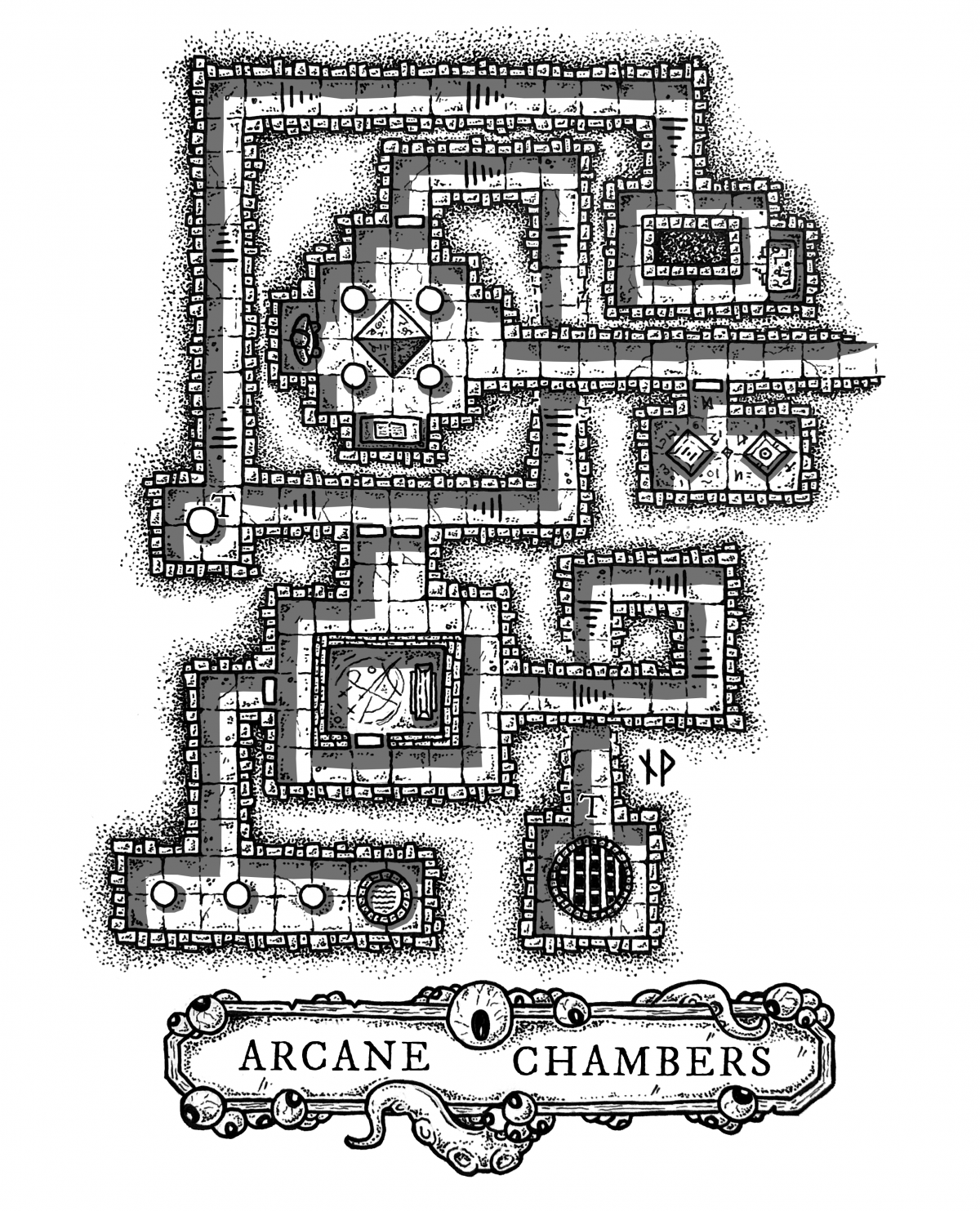 Arcane Chambers of the Mad Mage – Dungeon Map