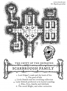 Scarbrough family crypt dungeon map
