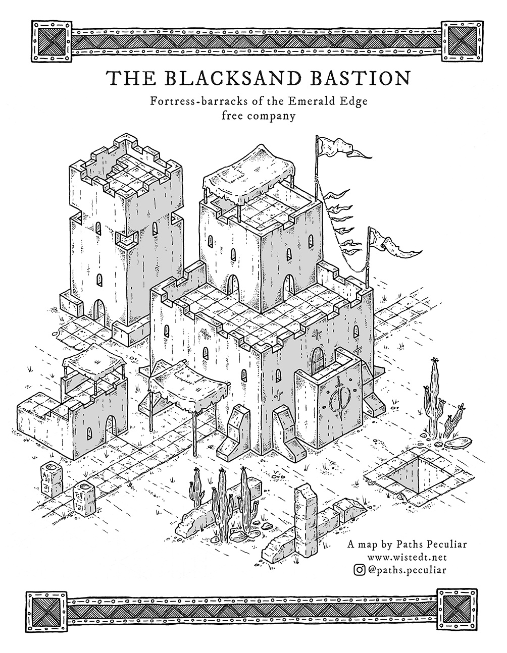 The Blacksand Bastion isometric map