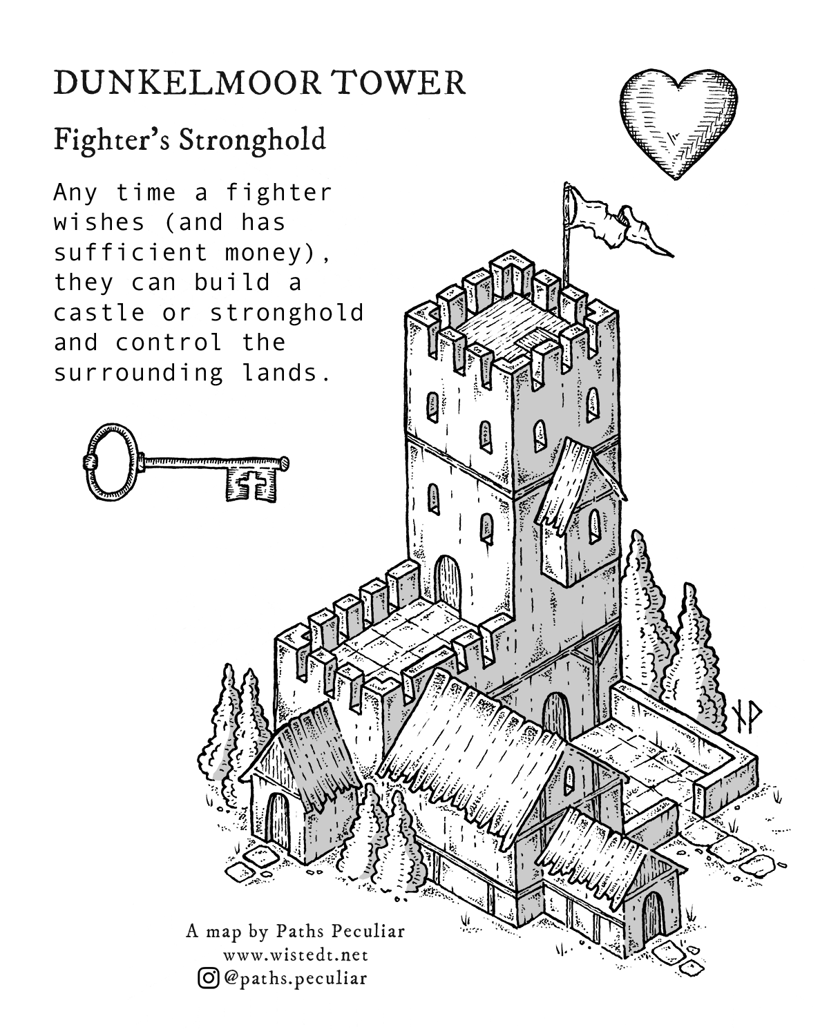 Dunkelmoor Tower – Fighter's Stronghold isometric map