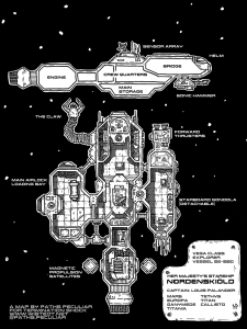 HMS Nordenskiöld starship blueprint for Termination Shock