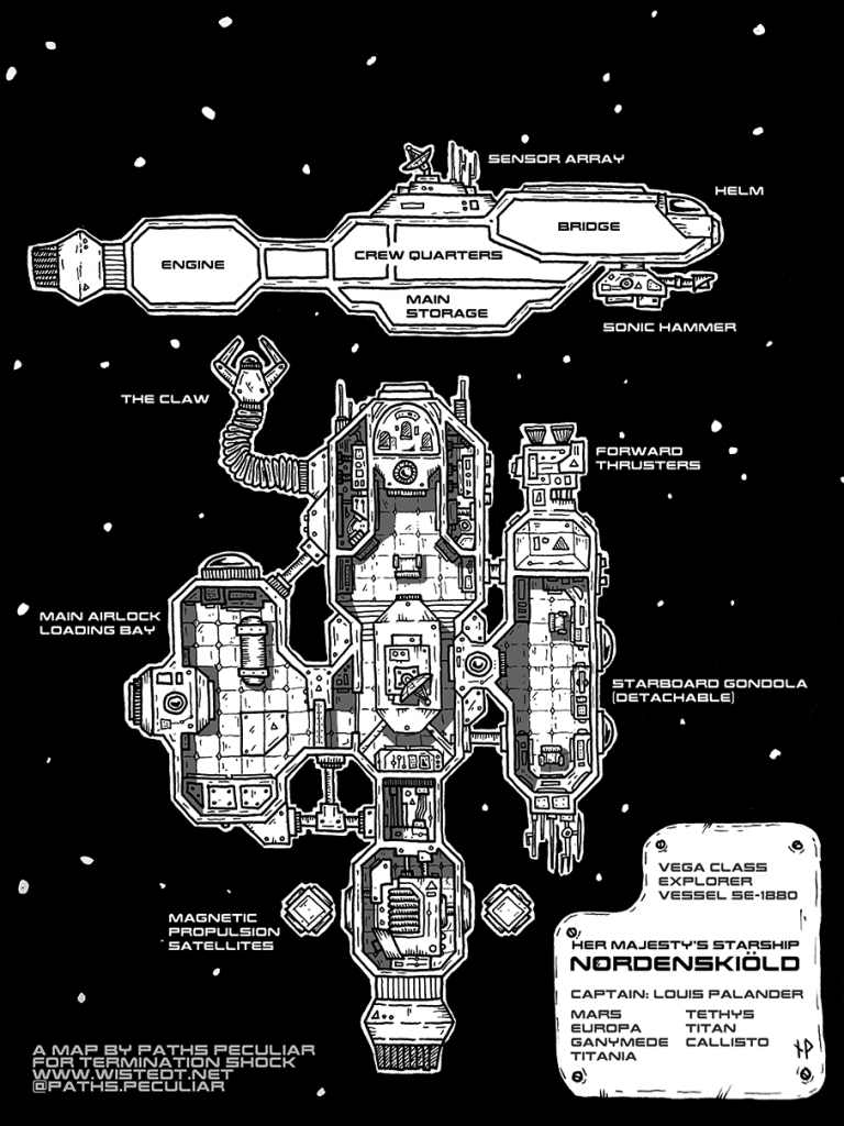 HMS Nordenskiöld starship blueprint for Termination Shock