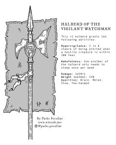 Halberd of the vigilant watchman