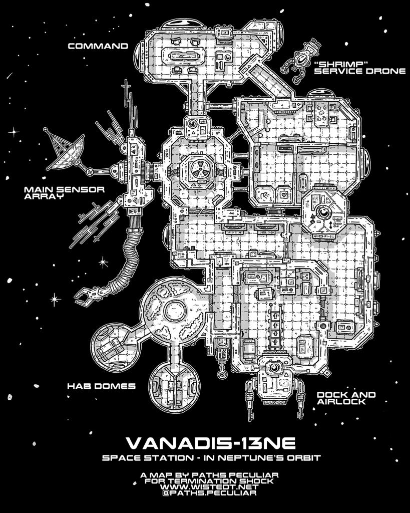 Space station blueprint - Vanadis 13NE in Neptune's orbit