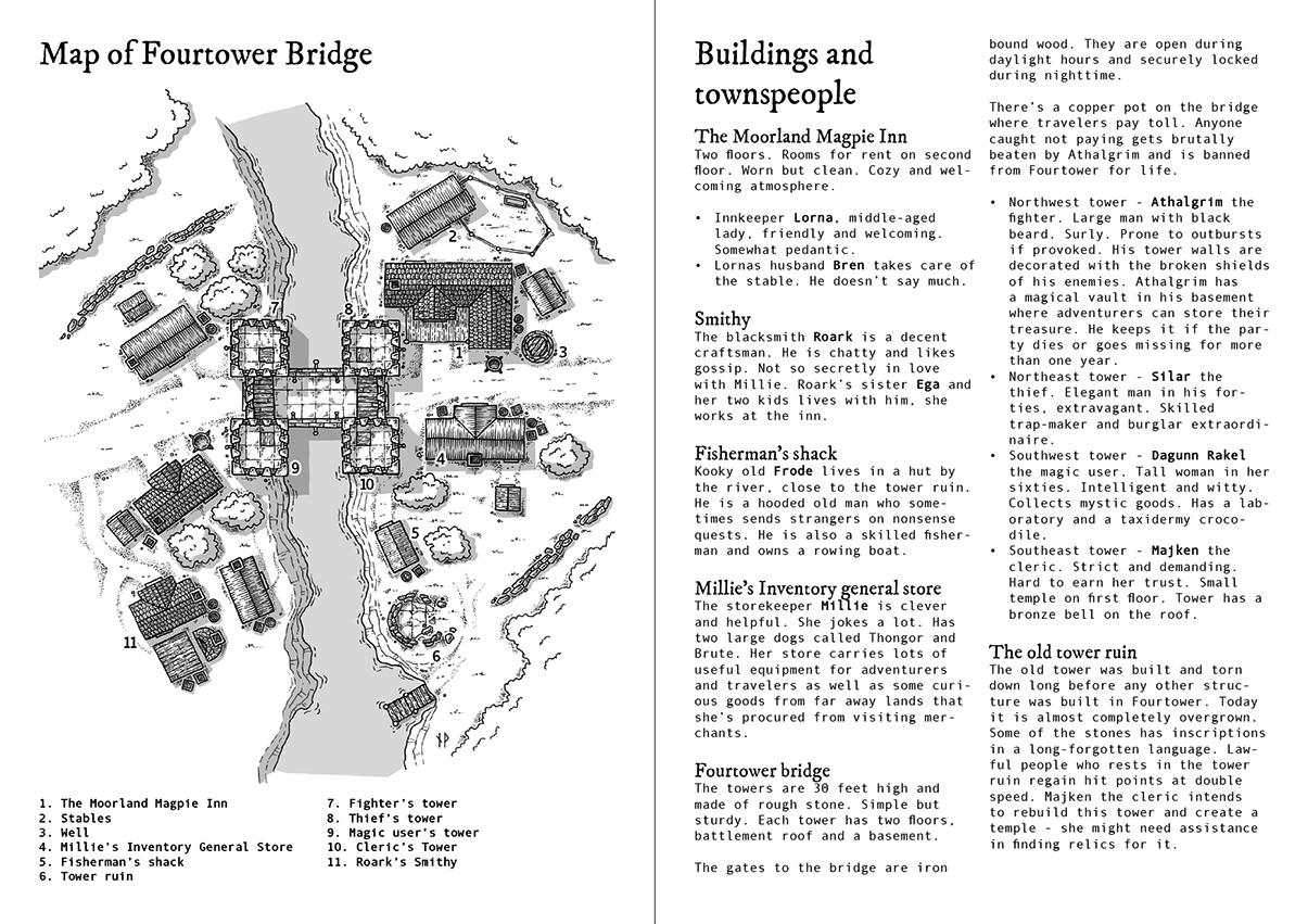 Sample spread from Fourtower Bridge