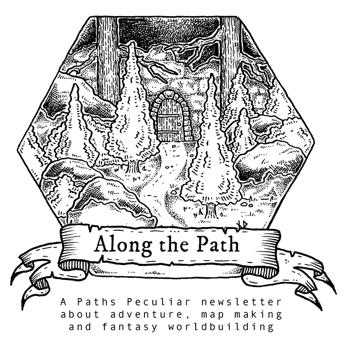 Along the Path - free digital newsletter about fantasy map making and world building