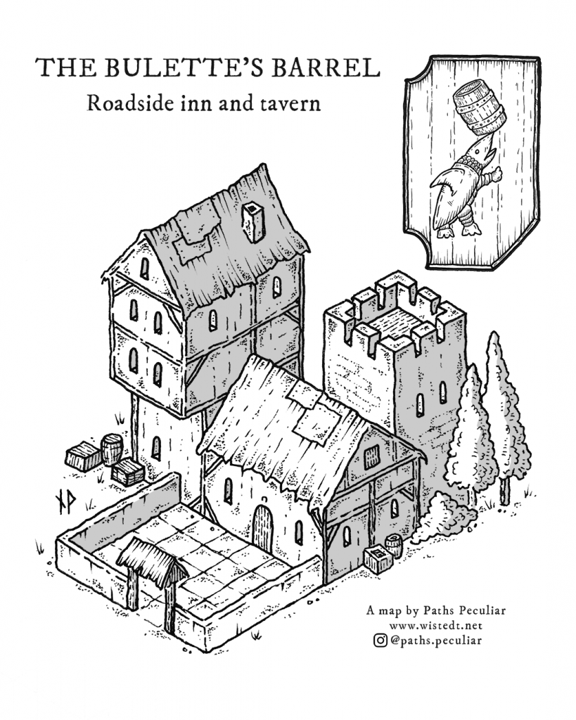 The Bulette's Barrel inn - isometric map