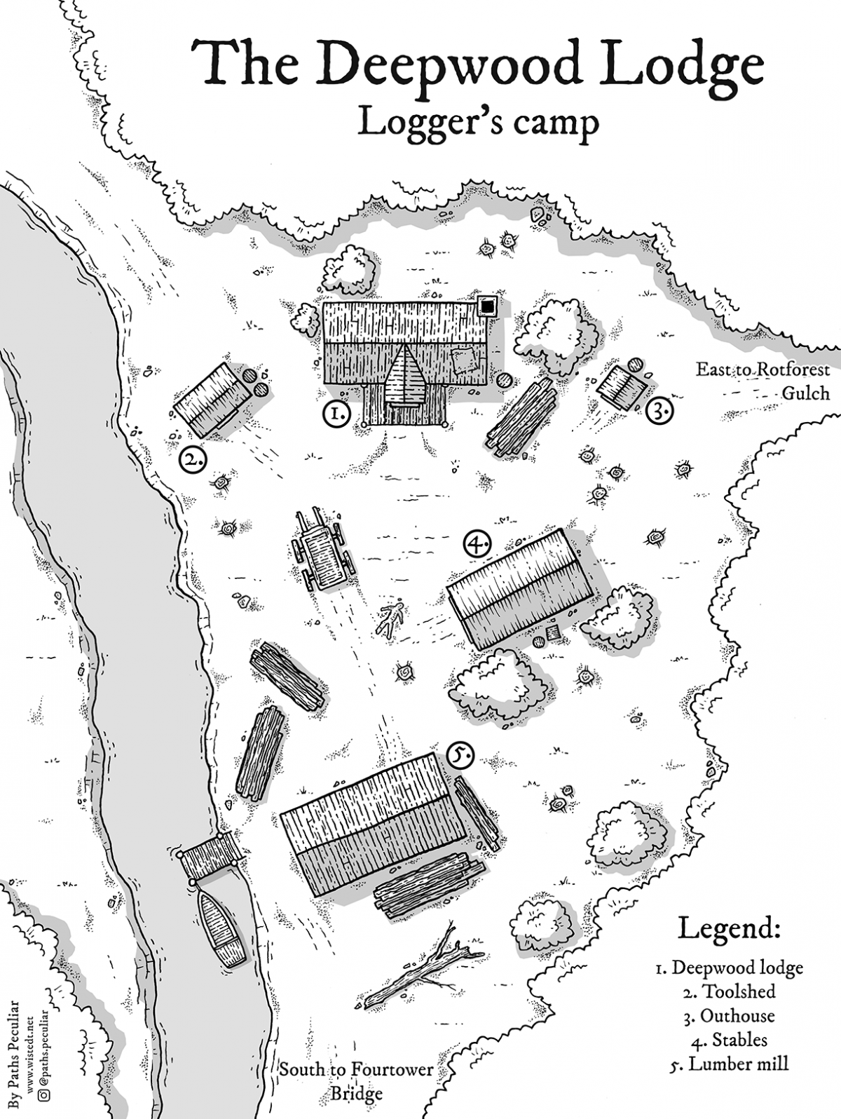 The Deepwood Lodge logger's camp