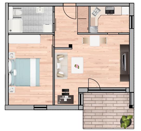 2-Raum Wohnung Nr. 4 11 18