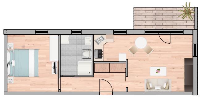 2-Raum Wohnung Nr. 5 12 19