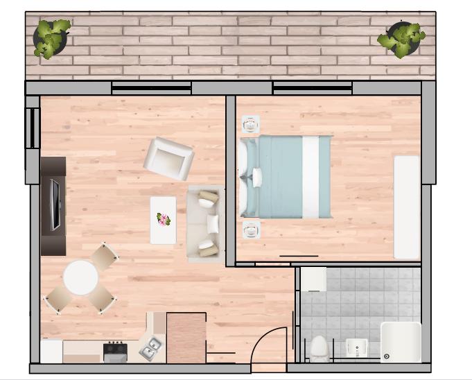 2-Raum Wohnung Nr. 6 13 20