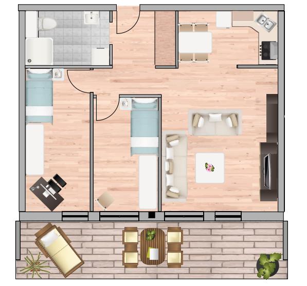 3-Raum Wohnung Nr. 2 9 16