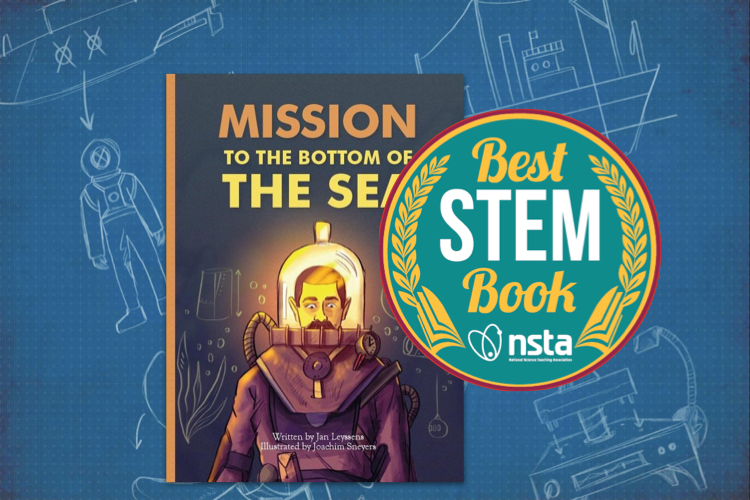 "Mission to the bottom of the sea wins a ""best STEM book 2021"" awardf"