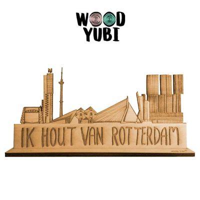 Skyline Ik hout van Rotterdam