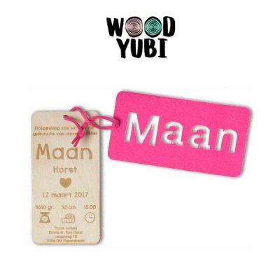 https://www.woodyubi.nl/product/houten geboortekaartje label maan