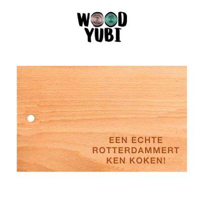 Snijplank Een echte Rotterdammert ken koken 2