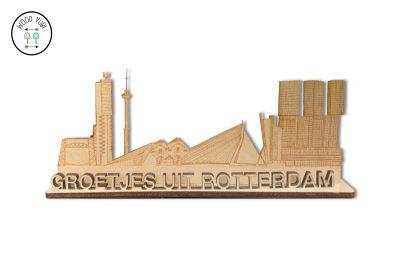 Groetjes uit Rotterdam wenskaart 3D