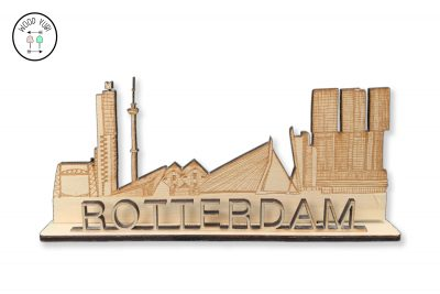 Houten Wenskaart Rotterdam,