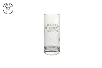 Longdrinkglas Een echte Rotterdammert ken zuipen