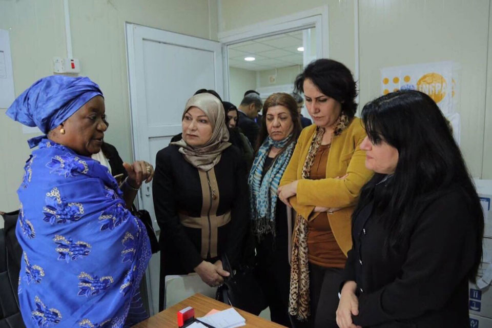Please allow images for this mail. On this image: ON VISIT TO IRAQ, UN'S FOCAL POINT FOR CONFLICT-RELATED SEXUAL VIOLENT VISITS ABUSED WOMEN
