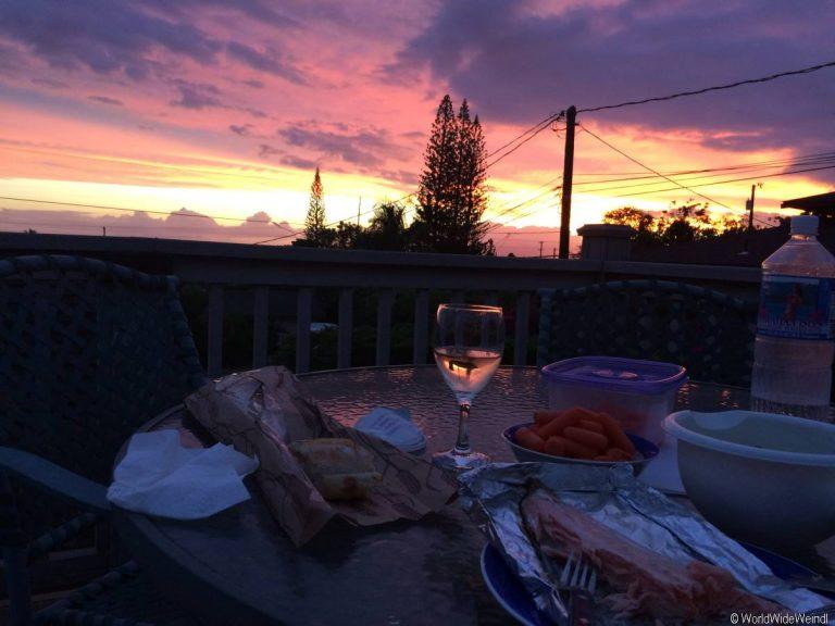 Maui 610- aAbendessen in unserer Unterkunft