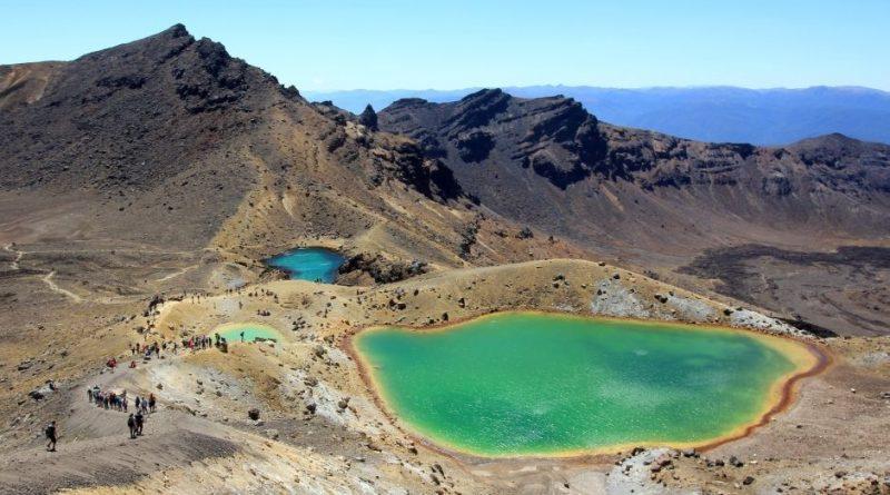 Neuseeland Nordinsel, Tongariro Crossing- Emerald Lakes