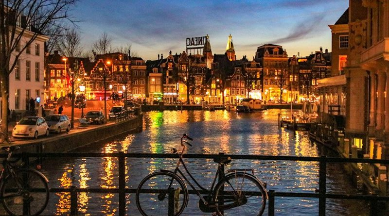 Niederlande, Amsterdam 135, Kloveniersburgwal, Aluminumbrug