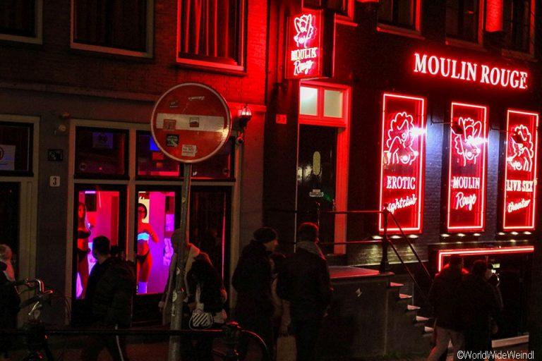 Niederlande, Amsterdam 43-Rotlichviertel, Moulin Rouge
