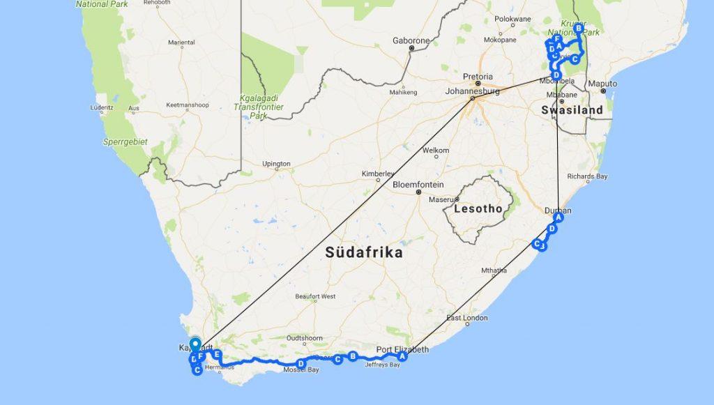 Sudafrikanische Flughafen Karte Map South Afrika Flughafen