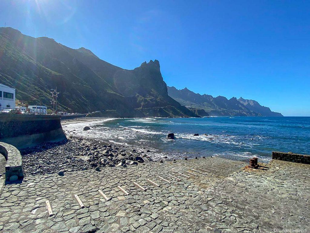Teneriffa, Anaga Gebirge- Playa del Roque
