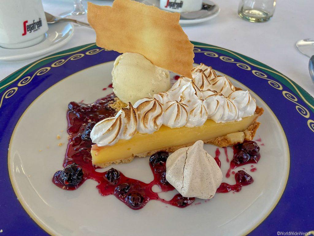 Teneriffa Süden: Kuchen beim Restaurant bei Gigantes_Puerto de Santiago