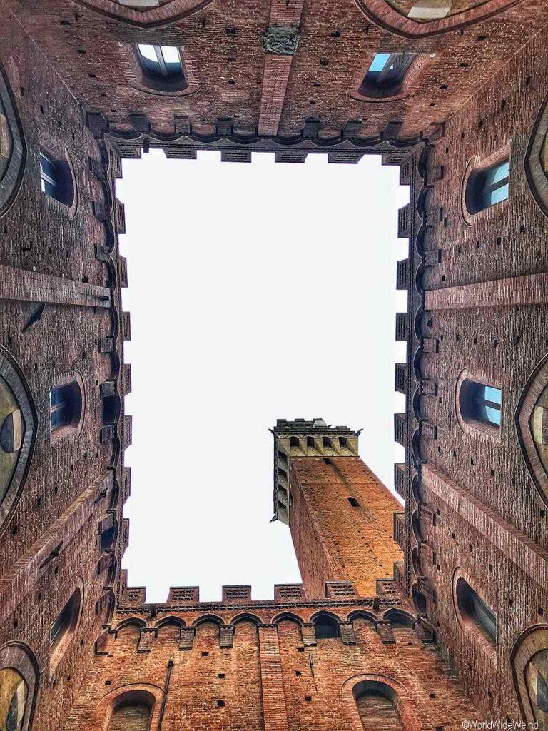 Toskana281- Siena, Il Campo, Rathaus Palazzo Pubblico
