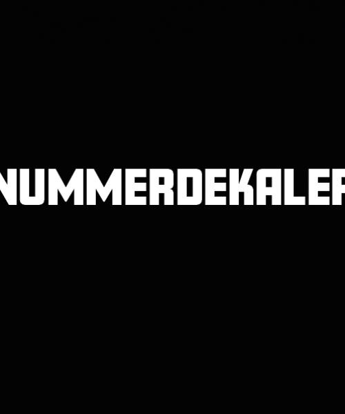 nummerdekaler