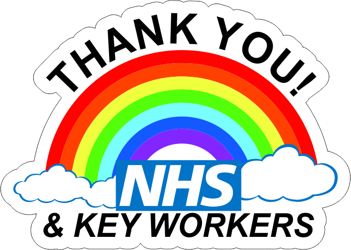NHS and Key Workers Window Sticker – Wraptor Signs