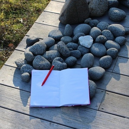 Writers walk - notesbog - kvadrat
