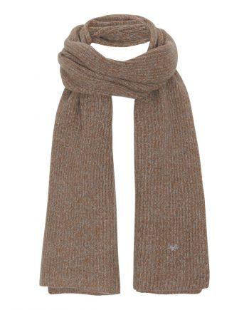 Rib halstørklæde i 100% cashmere fra danske Wuth Copenhagen. De flottese farver fra grøn til brunlige nuancer.