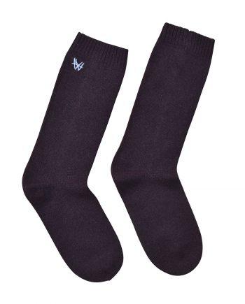 Sokker i det blødeste cashmere. 100% premium cashmere sokker fra Wuth Copenhagen. Klassiske brune sokker.